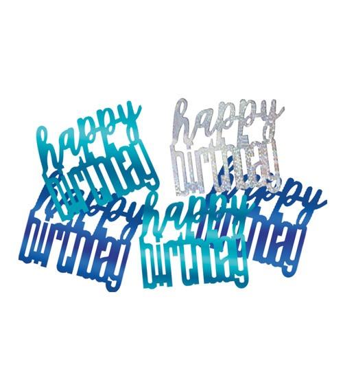 """Streukonfetti """"Happy Birthday"""" - blau - 14 g"""