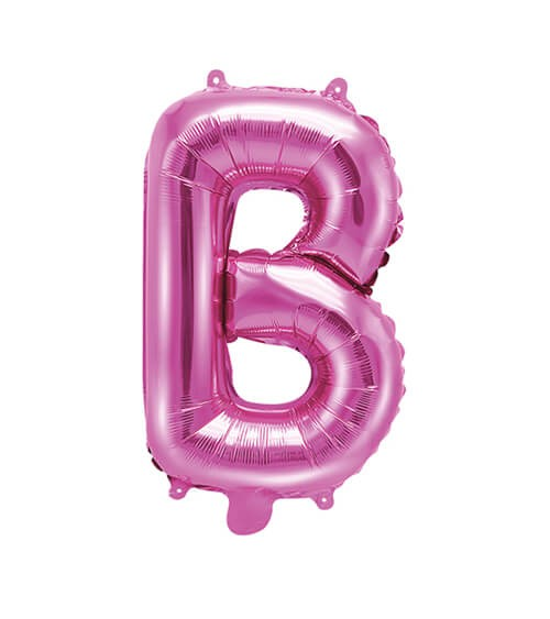 "Folienballon Buchstabe ""B"" - pink - 35 cm"