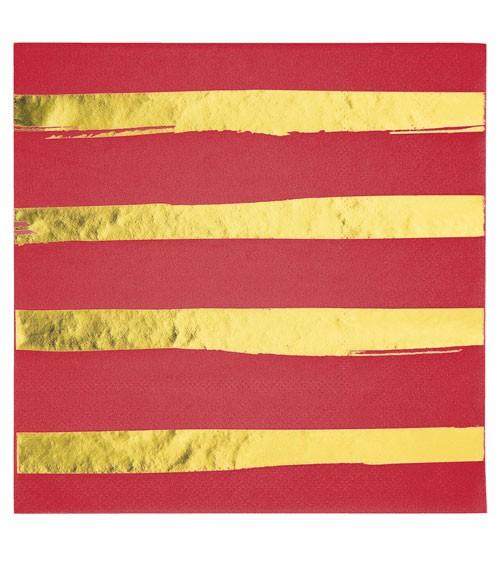 Servietten - rot/gold - 16 Stück