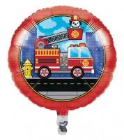 """Runder Folienballon """"Feuerwehrauto"""""""