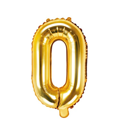 """Folienballon Buchstabe """"O"""" - gold - 35 cm"""