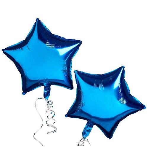 Stern-Folienballon - metallic blau - 2 Stück