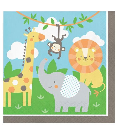 """Servietten """"Safari Tiere"""" - 16 Stück"""