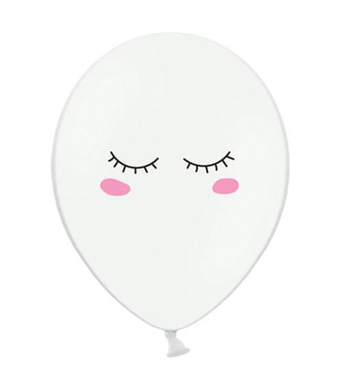 "Luftballons ""Dreamy Eyes"" - weiß - 6 Stück"