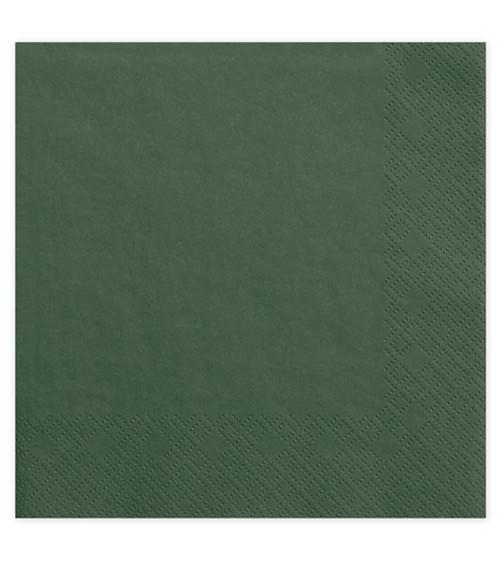 Servietten - flaschengrün - 20 Stück