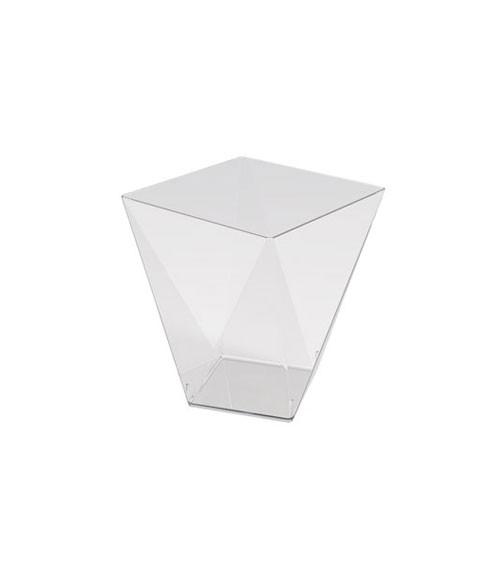 Kleine Schalen in Diamantform - transparent - 100 ml - 25 Stück