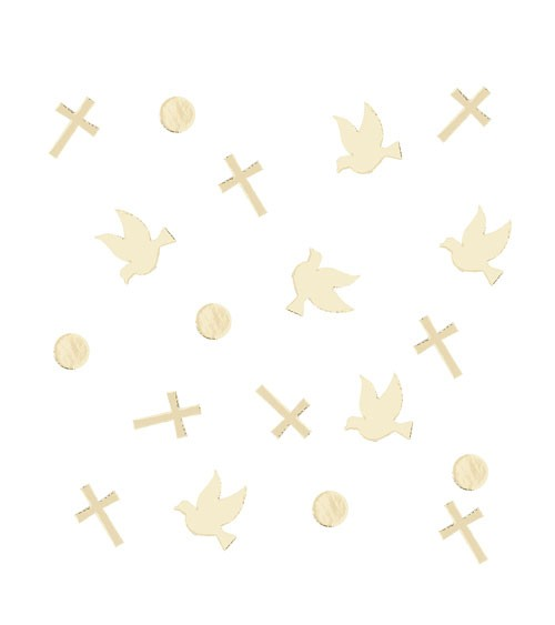 "Konfetti ""Tauben & Kreuze"" - gold - 14 g"