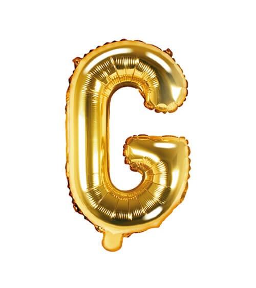 """Folienballon Buchstabe """"G"""" - gold - 35 cm"""
