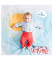 "Meilenstein-Decke mit Karten - ""You are my Sunshine"" - 8-teilig"