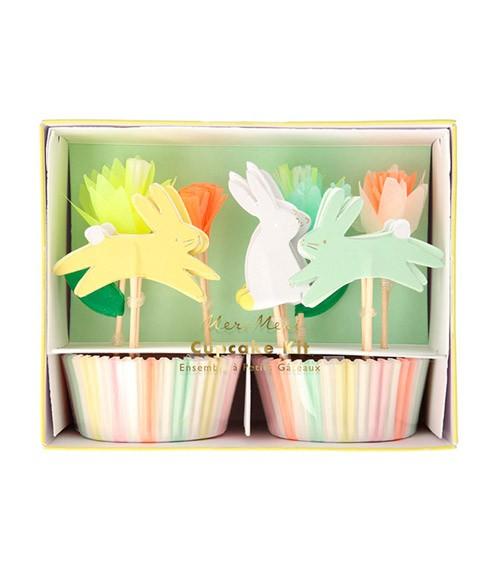 "Cupcake-Kit ""Floral Bunny"" - 48-teilig"