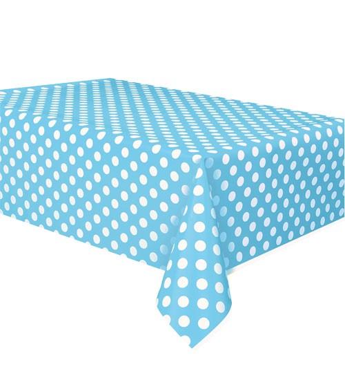 """Kunststoff-Tischdecke """"Big Dots"""" - Powder Blue - 137 x 274 cm"""