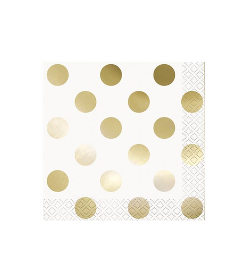 "Cocktail-Servietten ""Dots"" - metallic-gold - 16 Stück"