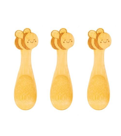 """Baby-Löffel-Set aus Bambus """"Biene"""" - 3-teilig"""