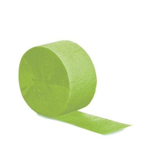 Deko-Kreppband - fresh lime - 24,6 m