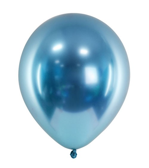 Glossy-Luftballons - blau - 50 Stück