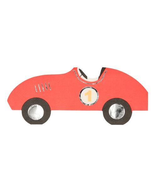 """Shape-Servietten """"Race Car"""" - 16 Stück"""