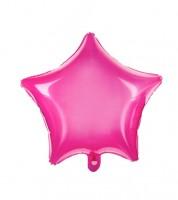 Transparenter Stern-Folienballon - pink - 48 cm