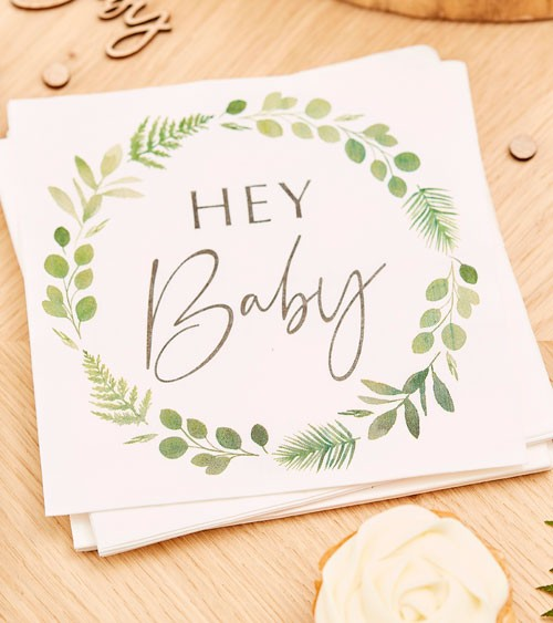 "Servietten ""Botanical Baby Shower"" - 16 Stück"