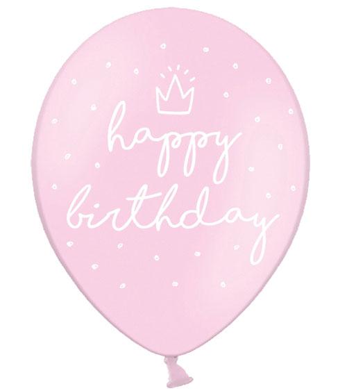 Luftballons Happy Birthday Rosa 50 Stuck