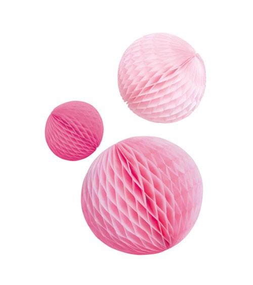 "Wabenball-Set ""Farbmix Pink"" - 3-teilig"