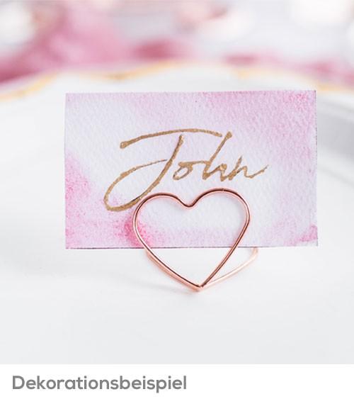 """Platzkartenhalter """"Herz"""" - rosegold - 10 Stück"""