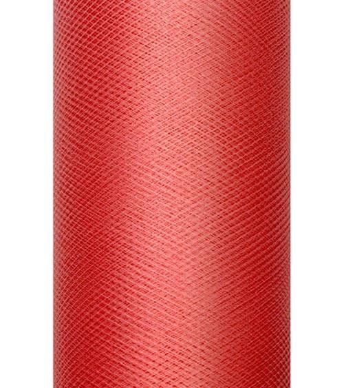 Tischläufer aus Tüll - rot - 30 cm x 9 m