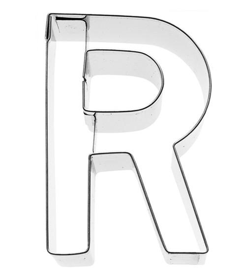 Ausstechform Buchstabe R - 6 cm
