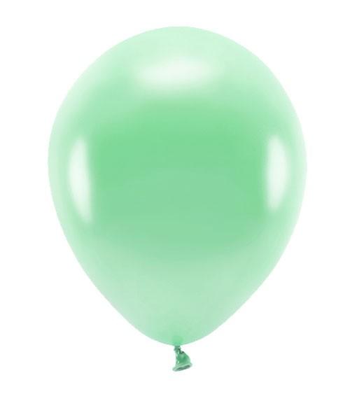 Metallic-Ballons - mint - 30 cm - 10 Stück