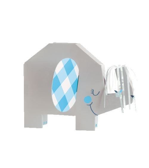 """3D-Aufsteller """"Floral Elephant"""" - blau"""