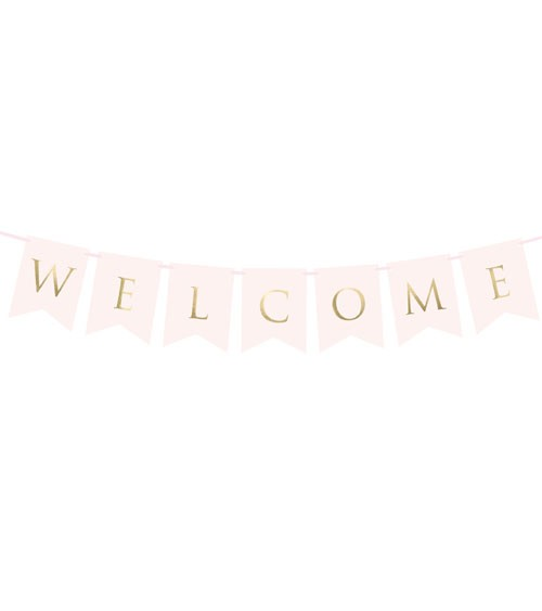 "DIY-Wimpelgirlande ""Welcome"" - blush/gold - 95 cm"