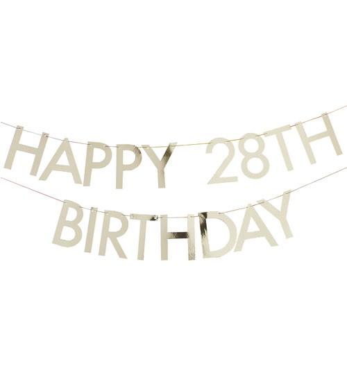 "Individualisierbare DIY-Girlande ""Happy Birthday"" - gold"