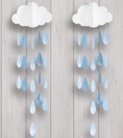 """Deko-Mobile """"Wolke mit blauen Tropfen""""  - 2 Stück"""