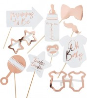 "Baby Shower Photobooth-Set ""Twinkle Twinkle"" - 10-teilig"