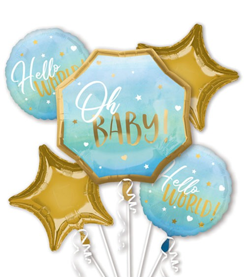 "Folienballon-Set ""Oh Baby"" - Boy - 5-teilig"