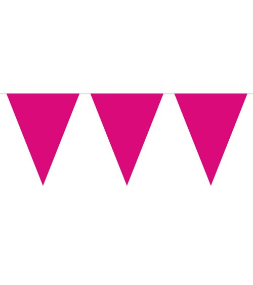 Wimpelgirlande aus Kunststoff - pink - 10m
