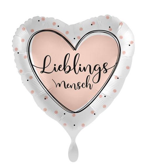 """Herz-Folienballon """"Lieblingsmensch"""""""