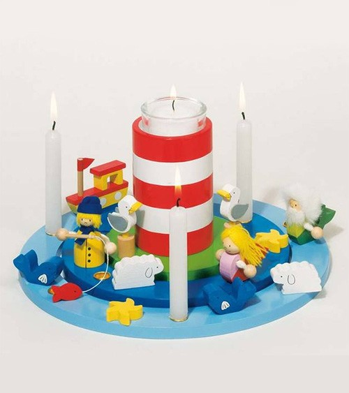Goki-Kerzenkranz mit Nordsse-Feeling