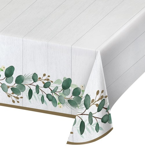 "Papier-Tischdecke ""Eukalyptus"" - 137 x 259 cm"