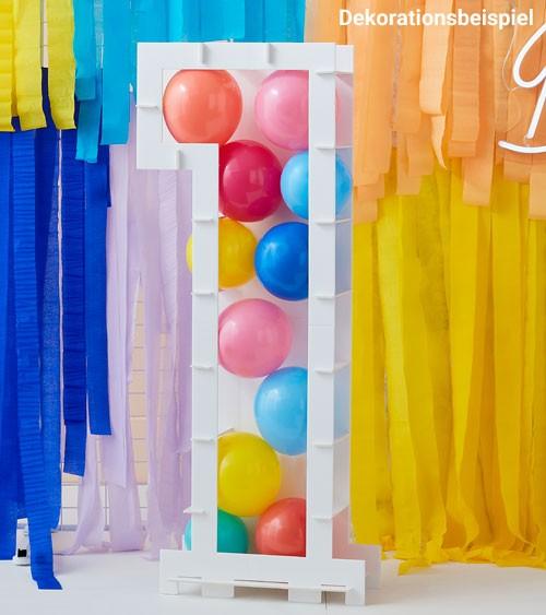 "DIY-Mosaik-Rahmen ""1"" zum Füllen mit Ballons - 85 cm"