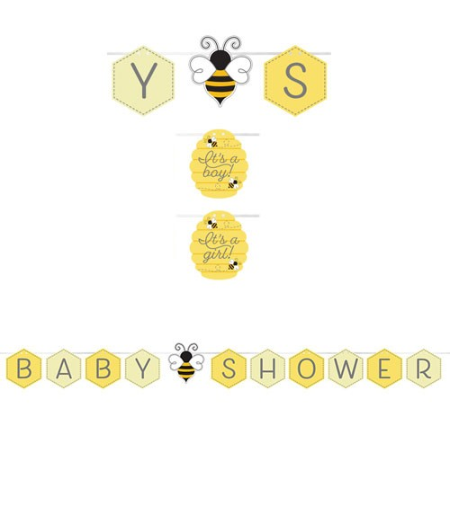 """Baby Shower-Girlande """"Kleine Biene"""" - 1,67 m"""