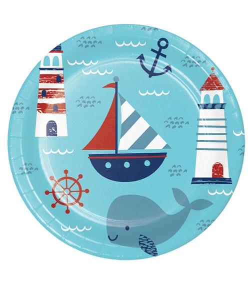 "Pappteller ""Ahoy Baby"" - 8 Stück"
