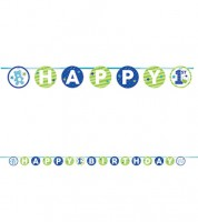 "Happy 1st Birthday-Girlande ""Happy One - blau"" - 3,35 m"