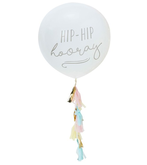 "Riesenballon mit Tassel ""Pick and Mix"" - Pastell"