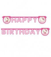 "Happy Birthday-Girlande ""Hello Kitty"" - 2 m"