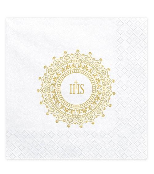 """Servietten """"IHS"""" - gold - 20 Stück"""