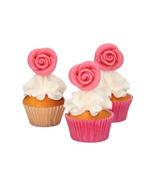 FunCakes Marzipan-Rosen - pink - 6 Stück