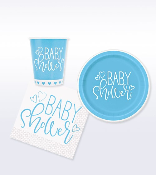 "Deko-Set ""Baby Shower"" - blau - 32-teilig"