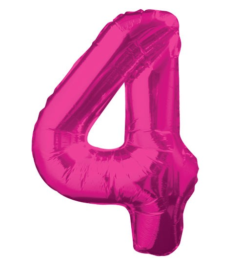 "Supershape-Folienballon ""4"" - pink"