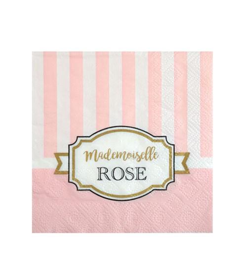 "Cocktail-Servietten ""Mademoiselle"" - rosa - 20 Stück"