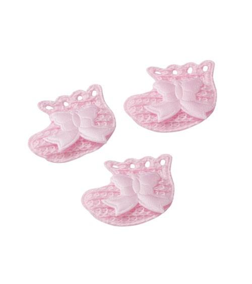"""Streuteile """"Baby-Schühchen"""" - rosa - 3,5 cm - 10 Stück"""